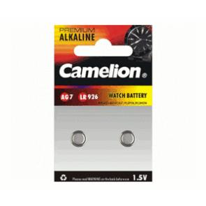 Pack 2 Piles Boutons Camelion Alcaline AG7/LR926