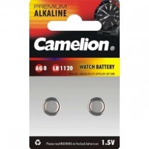 Pack 2 Piles Boutons Camelion Alcaline AG8/LR1120