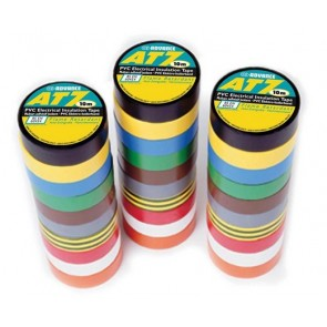 10 Rubans Adhésifs PVC AT7 15 mm x 10 m (pack)