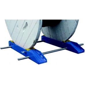 Dérouleur réglable et démontable pour touret de diamètre 500-1400 mm