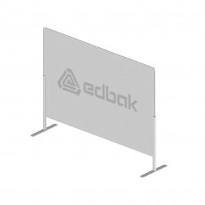 Ecran de protection sur base autoportante et Plexiglas Edbak 100x75