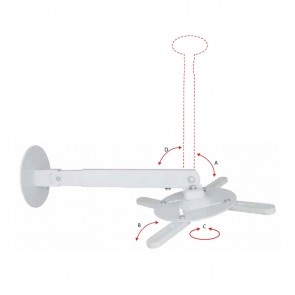 Support mural Gyroprojecteur 15kg Blanc OMB 16090
