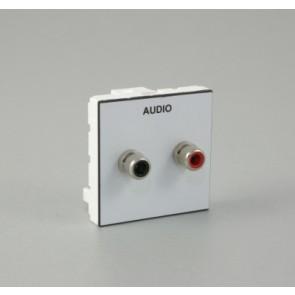 Plastron équipé de 2 RCA à souder