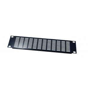 Panneau 19'' avec grille de ventilation 1u noir PAN1191V  S2CEB