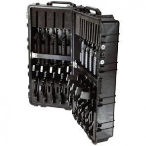 Valise Pelicase 1780 noire avec aménagement pour 10 fusils