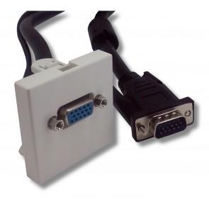 Plastron 45x45 ABS blanc HD15 Femelle/Mâle 20 m e-boxx