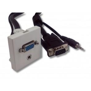 Plastron 45x45 blanc HD15 Femelle/JACK 3.5 vers HD15 Mâle/JACK 3.5 20 m e-boxx