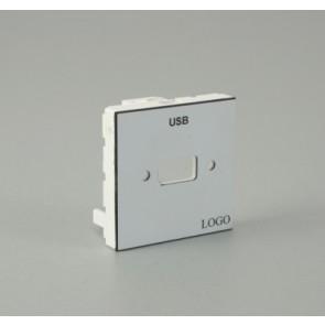 Plastron 45 empreinte 1 USB A F