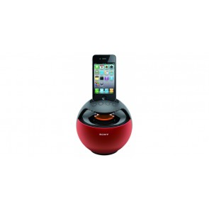 Station RDP-V20iP SONY Rouge HP portable pour iPod iPhone