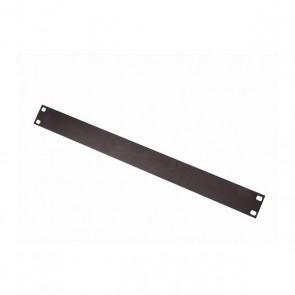 Panneau acier noir mat 1U