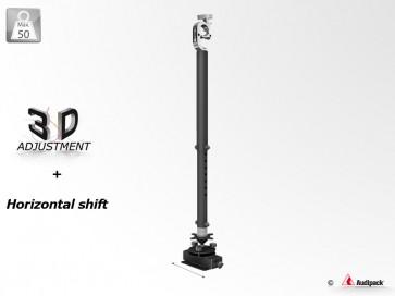 Support vidéoprojecteur télescopique PLUS+ 3D sur poutre 392666 Audipack