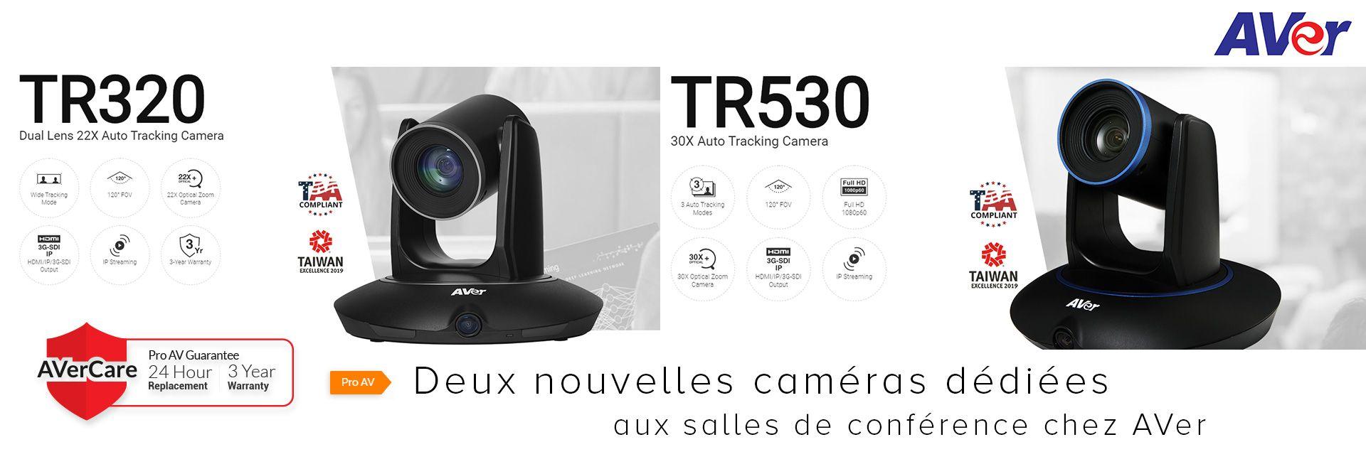 deux nouvelles caméras dédiées aux salles de conférence chez AVer