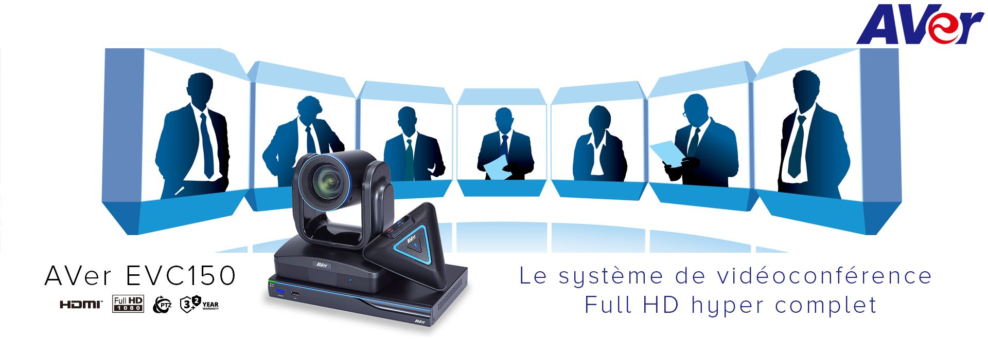 un système de vidéoconférence Full HD hyper complet