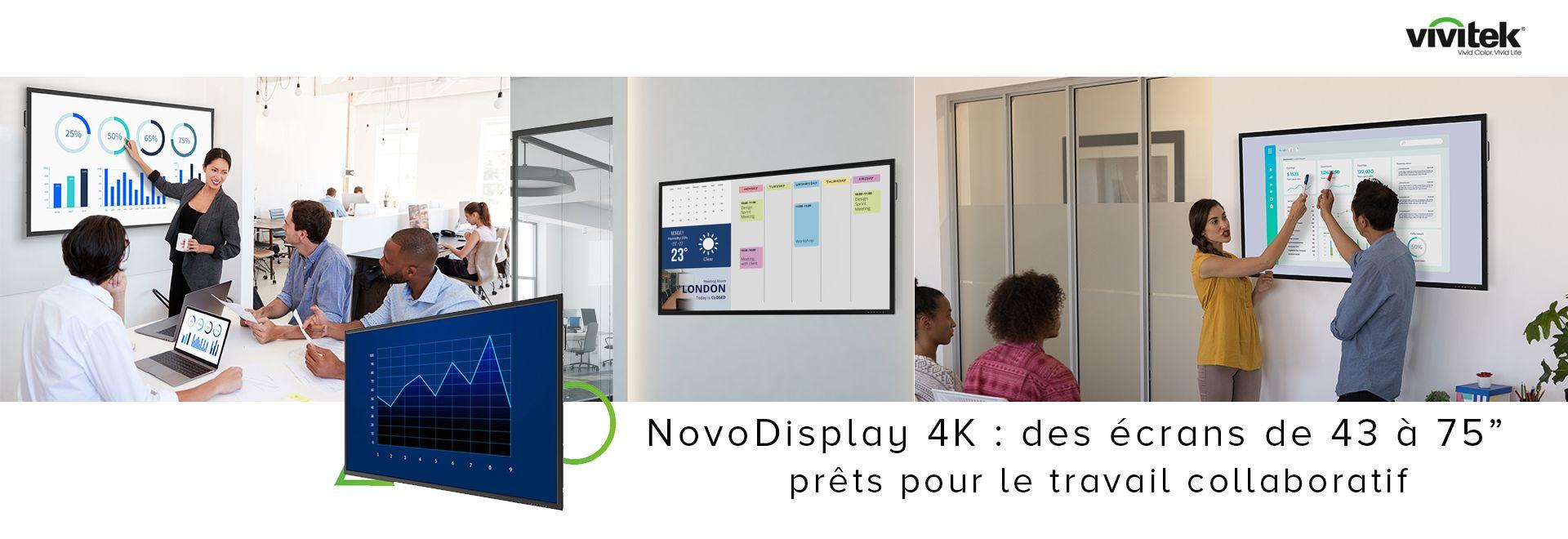 NovoDisplay 4K : des écrans de 43 à 75″ prêts pour le travail collaboratif