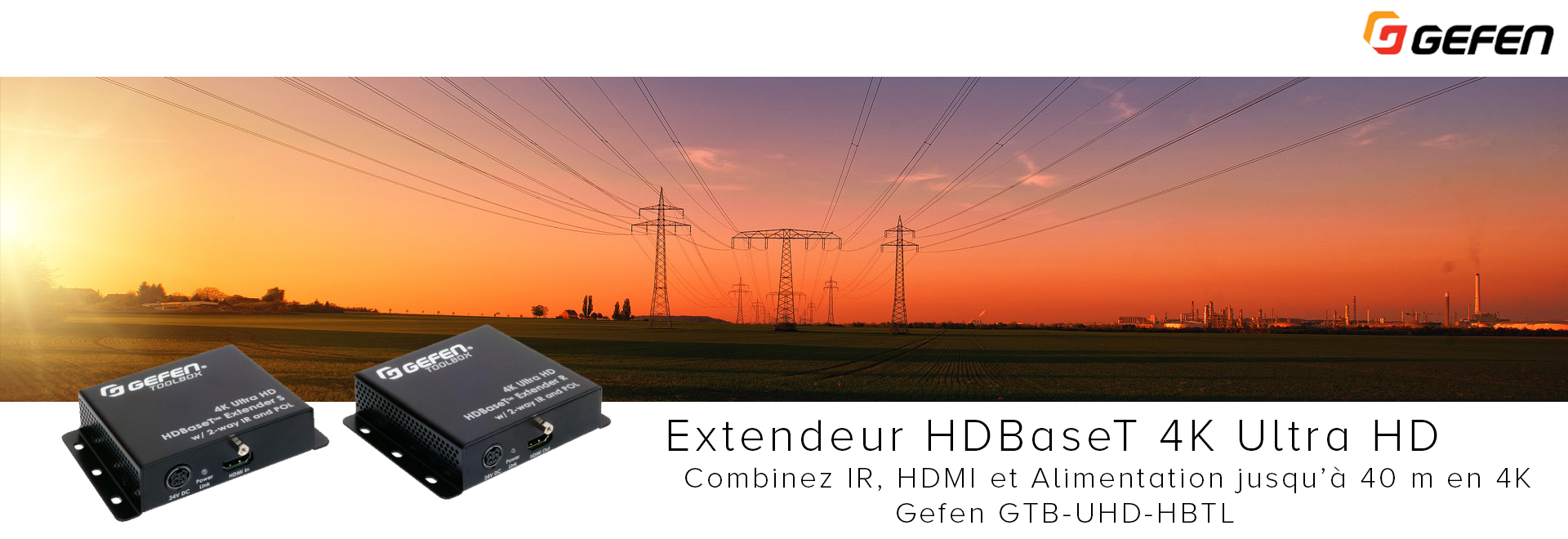 Extendeur HDBaseT Gefen