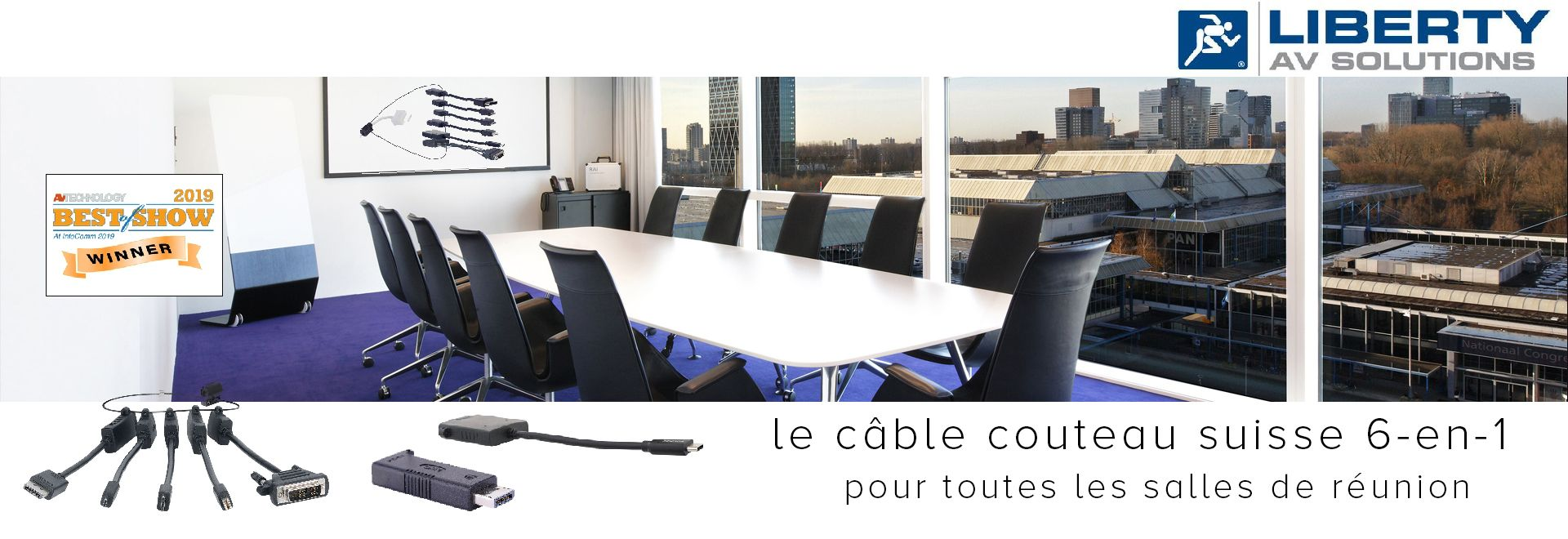le câble couteau suisse 6-en-1 pour toutes les salles de réunion