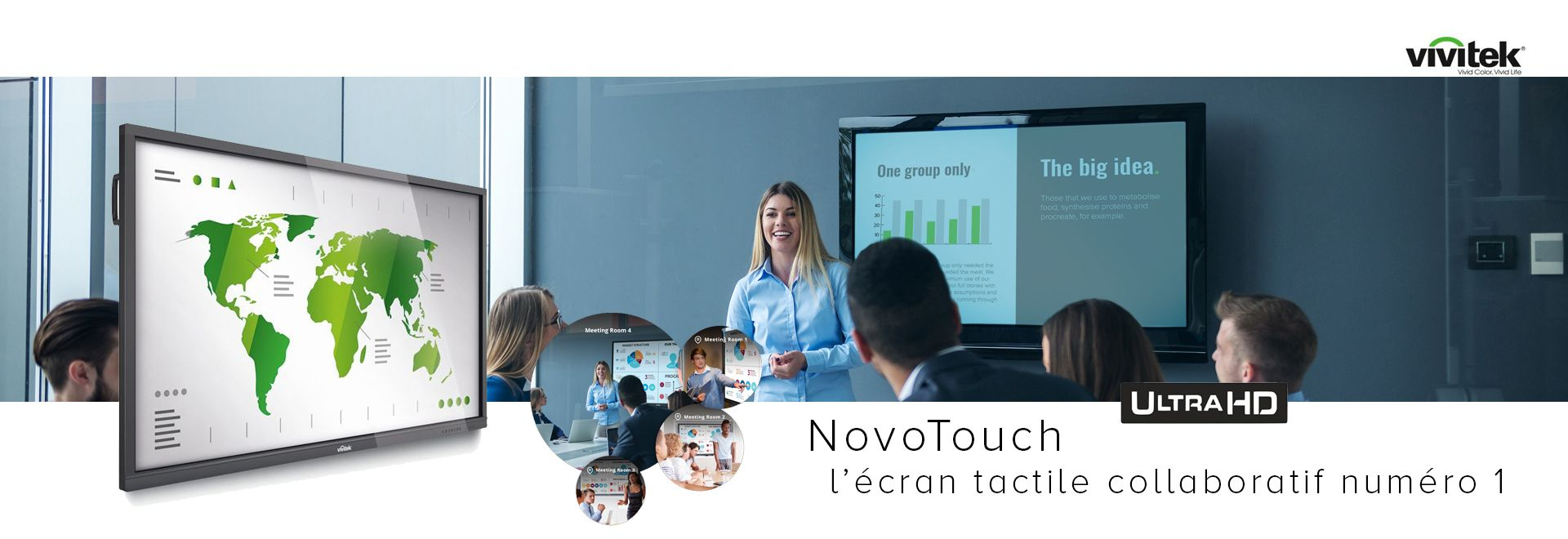 Booster vos réunions collaboratives avec le NovoTouch 86″ tactile