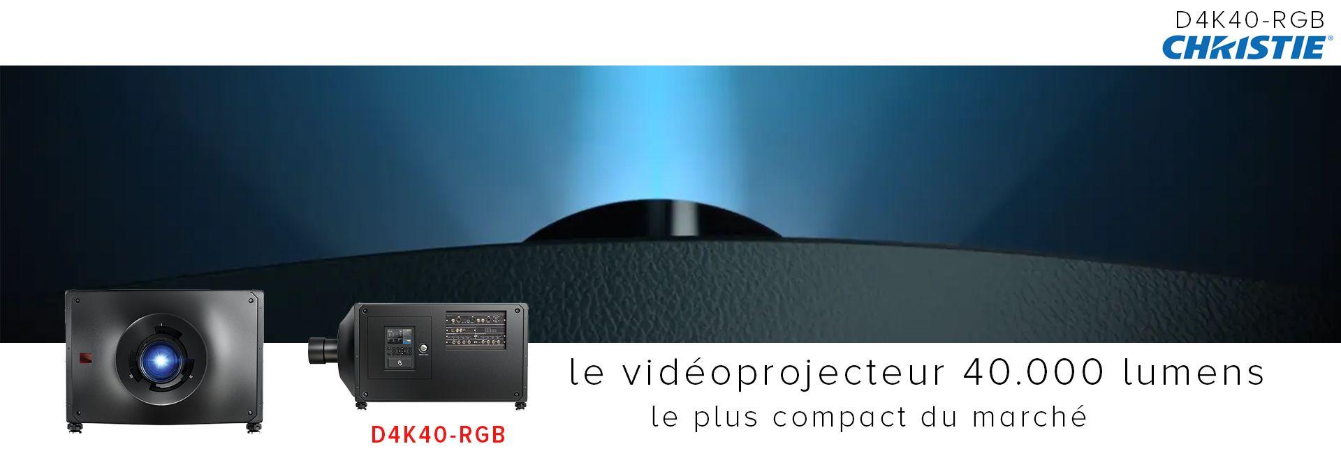 Christie D4K40-RGB, le vidéoprojecteur 40.000 lumens le plus compact du marché