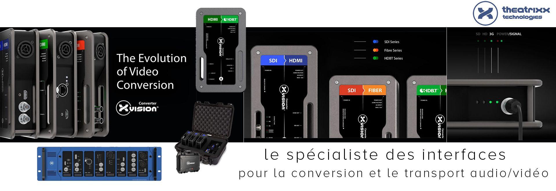 Découvrez Theatrixx, le spécialiste des interfaces pour la conversion et le transport audio/vidéo