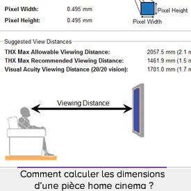 Comment calculer les dimensions d'une pièce home cinemar