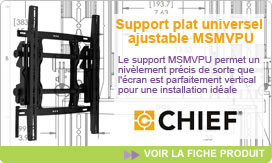 Support plat universel ajustable MSMVPU Chief