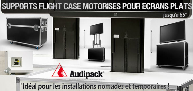 Flightcase motorisés Audipack