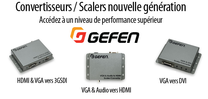 GEFEN présente un convertisseur/scaler HDMI & VGA vers 3GSDI
