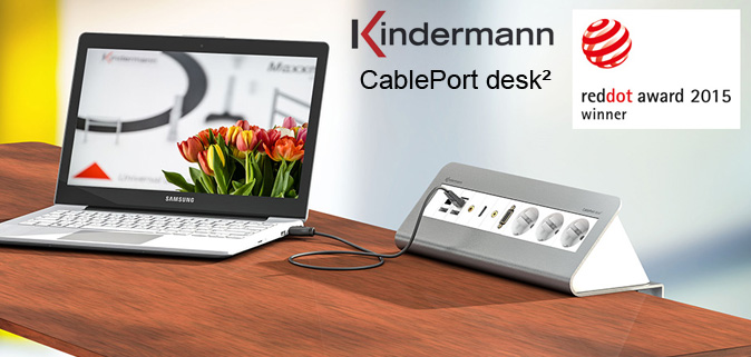 KINDERMANN CablePort desk²